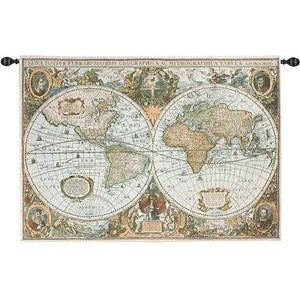 THE WORLD GRANDE' TAPESTRY WALL HANGING