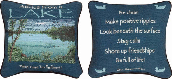 Advice From The Lake Reversible Tapestry Pillow