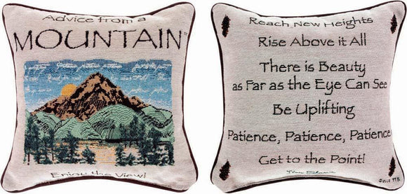 Advice From A Mountain Reversible Tapestry Pillow