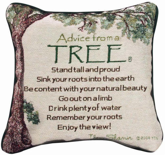 Advice From A Tree Tapestry Pillow