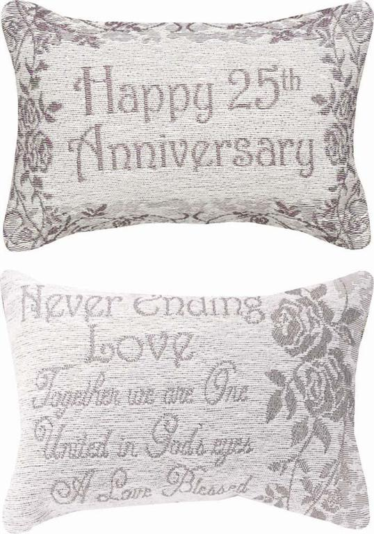 25th Anniversary Reversible Memory Pillow