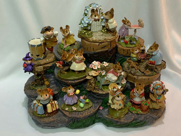 Great Tree Stump Display for Wee Forest Folk- WFF Not Included