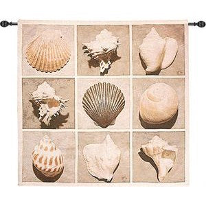 WEATHERED SHELL SAMPLER GRANDE' TAPESTRY WALL HANGING