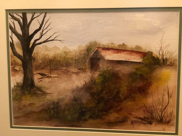 "Limited Edition Numbered Painting Print ""Abandoned Barn"""