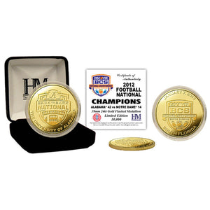 Alabama 2012 BCS National Champions Gold Coin