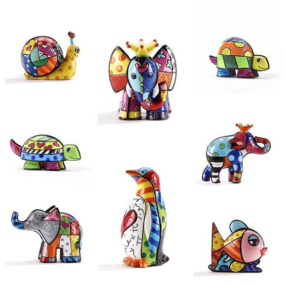 ROMERO BRITTO ALL NEW MINI/MINIATURE COLLECTION OF 8