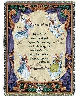 ANGEL SYMPHONY EXODUS 23:20 TAPESTRY THROW