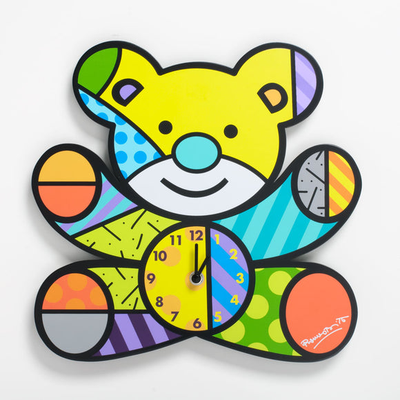 Romero Britto Teddy Bear Clock