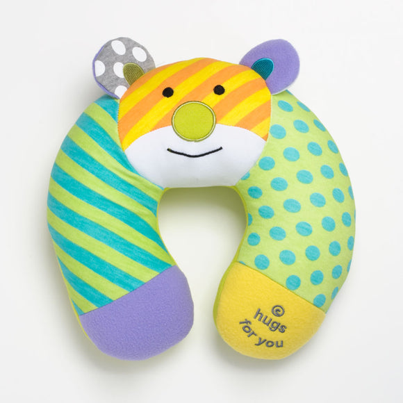 Romero Britto Baby Travel Pillow- Teddy Bear