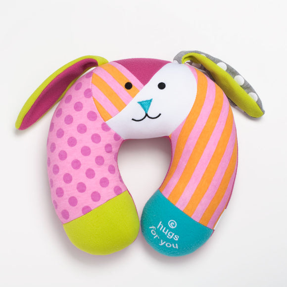 Romero Britto Baby Travel Pillow- Bunny Rabbit