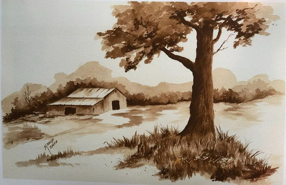 "Limited Edition Numbered Painting Print ""Barn In The Fall"