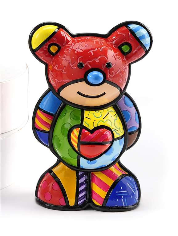ROMERO BRITTO COLLECTIBLE BEAR- AZUL