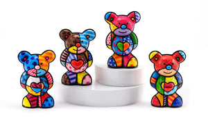 Romero Britto Collectable Bears- Set of 4