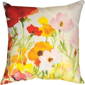 Betsy's Ranunculus Indoor/Outdoor Climaweave Pillow