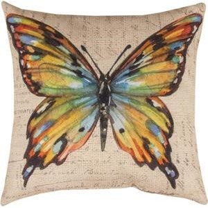 Butterfly Wings Multicolor Indoor/Outdoor Pillow
