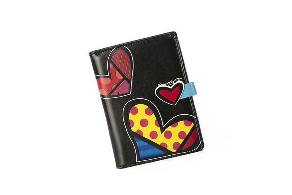 ROMERO BRITTO PASSPORT COVER BLACK WITH