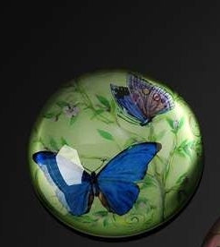 BOTANICAL BLUE BUTTERFLY PAPERWEIGHT