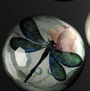 BOTANICAL BLUE DRAGONFLY PAPERWEIGHT
