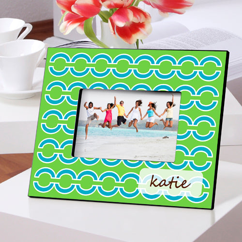 Personalized Blue Links Picture Frame