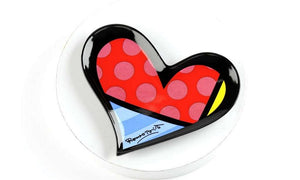 ROMERO BRITTO BOUTIQUE HEART TRINKET TRAY