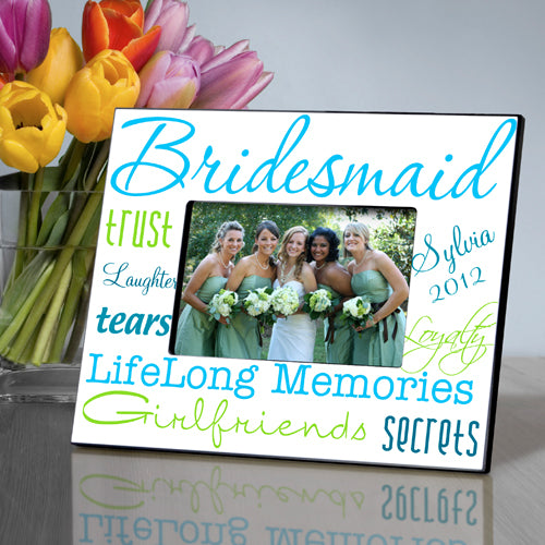 Personalized Bridesmaid Something Blue Picture Frame
