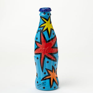 Romero Britto Coke Bottle With Blue Cap