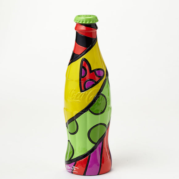 Romero Britto Coke Bottle With Green Cap