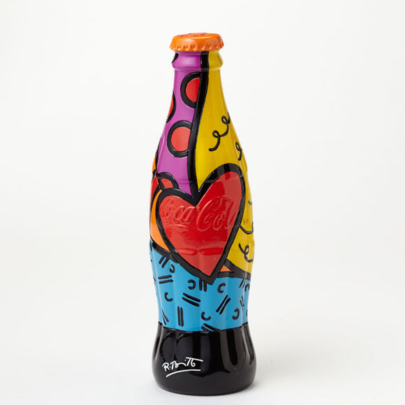 Romero Britto Coke Bottle With Orange Cap