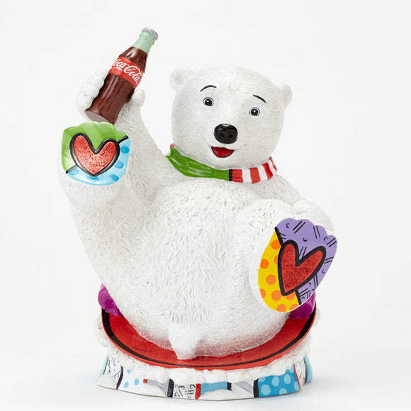 Romero Britto Coke Baby Polar Bear Figurine