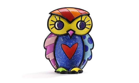 ROMERO BRITTO OWL FIGURINE- TRUTH