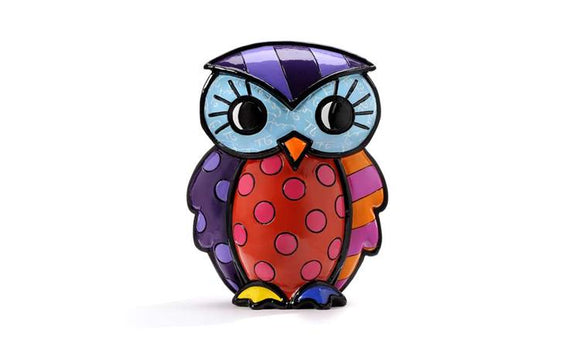 ROMERO BRITTO OWL FIGURINE- COURAGE