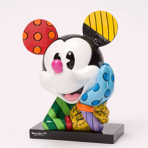 ROMERO BRITTO DISNEY POP ART BUST FIGURINE- MICKEY MOUSE