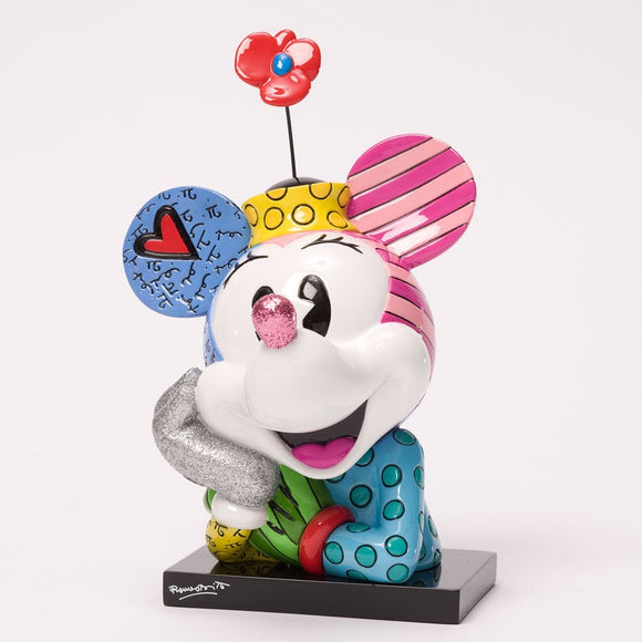 ROMERO BRITTO DISNEY POP ART BUST FIGURINE- MINNIE MOUSE