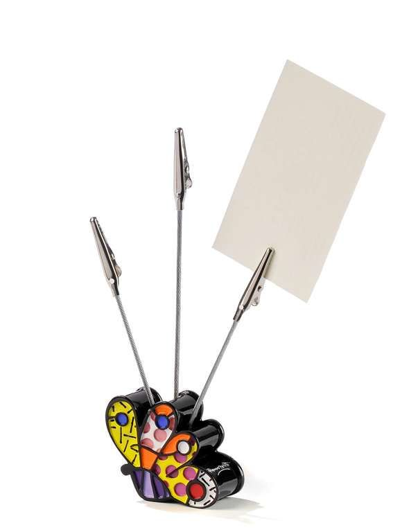 ROMERO BRITTO BUTTERFLY CARD/PHOTO HOLDER