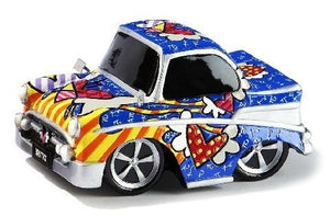 ROMERO BRITTO CAR FIGURINE- VINTAGE CAR