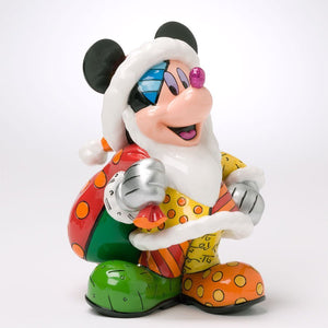 DISNEY BY BRITTO CHRISTMAS MICKEY MOUSE FIGURINE