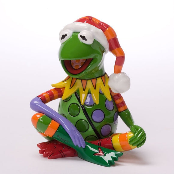 DISNEY BY BRITTO CHRISTMAS MINI KERMIT THE FROG FIGURINE