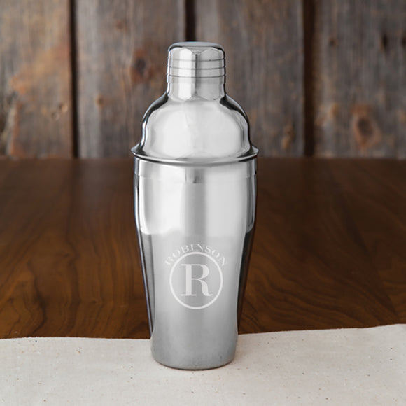Personalized Cocktail Shaker With Circle Design