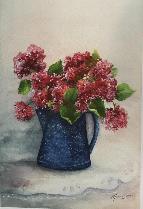 "Limited Edition Numbered Painting Print ""Country Flowers"""
