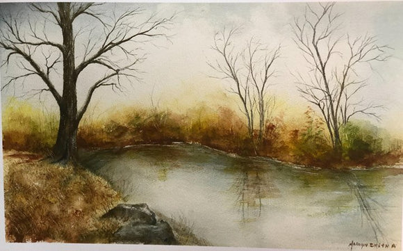 "Limited Edition Numbered Painting Print ""Country Pond"""