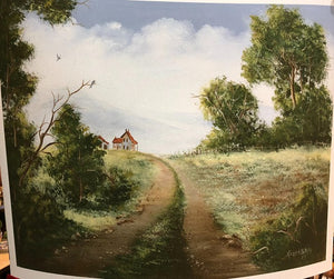 "Limited Edition Numbered Painting Print ""Country Road"""