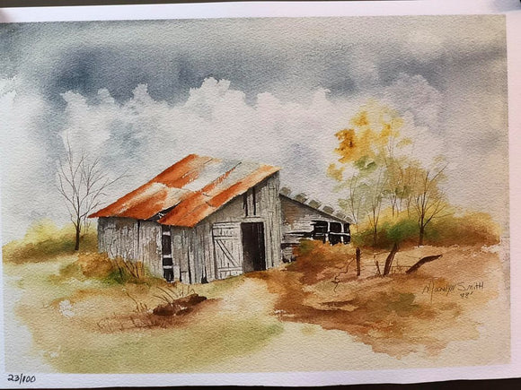 "Limited Edition Numbered Painting Print ""Country Time"""