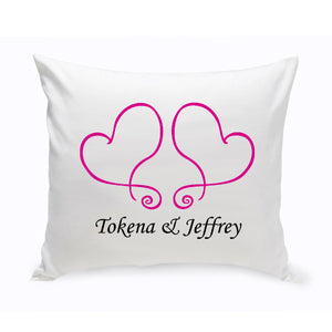 "Personalized Couples Unity ""Two Hearts"" Throw Pillow"