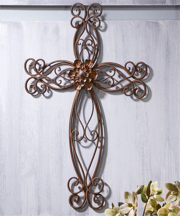 Memorial Scroll Design Wall Cross
