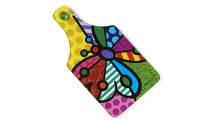 ROMERO BRITTO GLASS CUTTING BOARD- BUTTERFLY