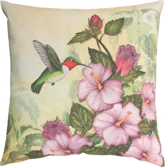 Happy Hummingbird Indoor/Outdoor Pillows Set of 2