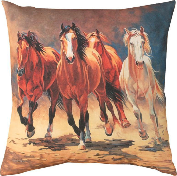 Hoofbeats & Heartbeats Indoor/Outdoor Pillows Set of 2