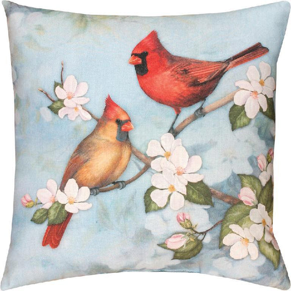 Spring Cardinal Indoor/Outdoor Pillows Set of 2