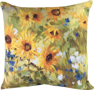 Sunflower Fields Indoor/Outdoor Pillows Set of 2