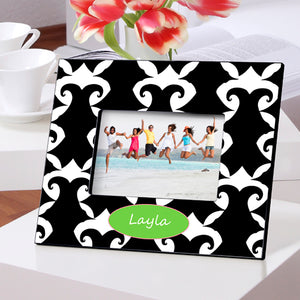Personalized Dramatic Damask Picture Frame